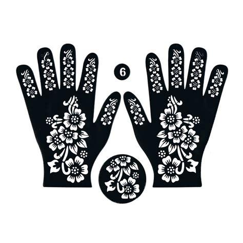 henna stencil tattoo self adhesive hand 61 oriental style