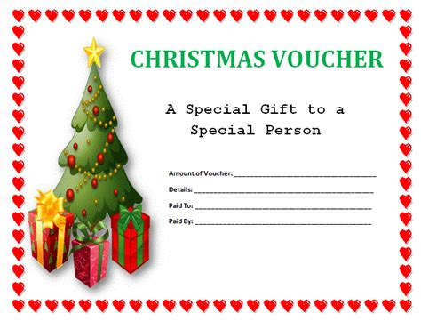 online printable vouchers uk christmas voucher templates voucher templates