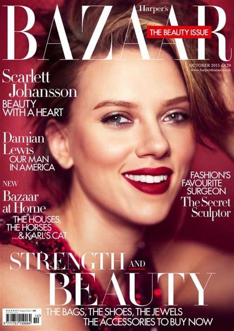 In Harpers Bazaar by Johansson In S Bazaar Magazine Uk October