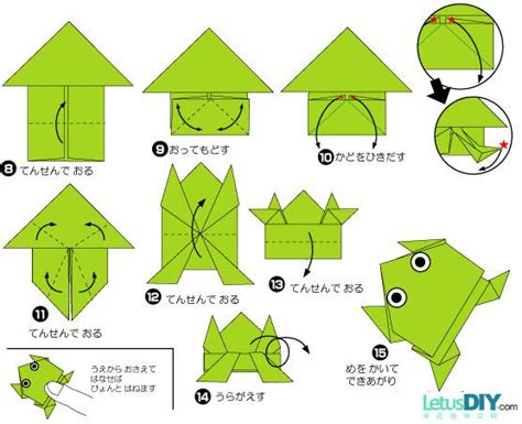 How To Make A Paper Frog Origami - diy paper folding jumping frog letusdiy org diy