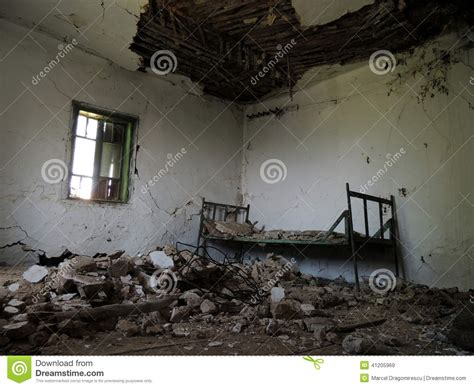 Room Running Time Spooky Rundown Room In Country House Stock Photo Image