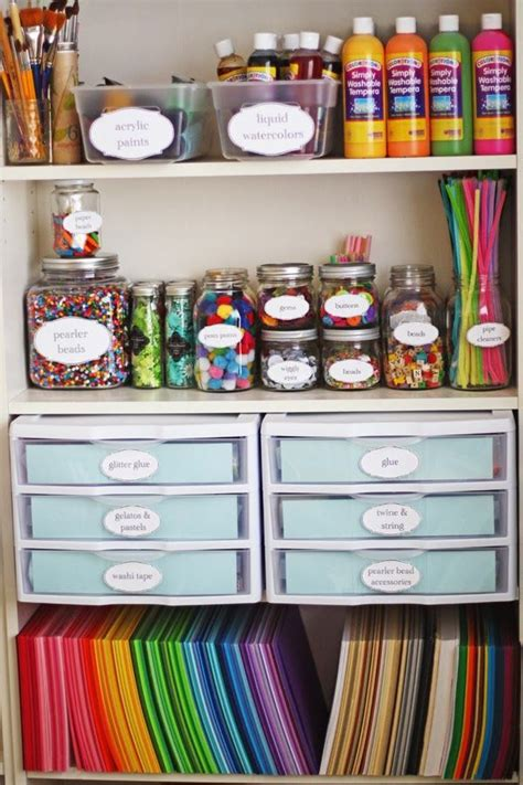 ways   mason jars  storage craft room storage