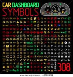 Dashboard Car Lights And Meanings Warning Stock Images Royalty Free Images Vectors