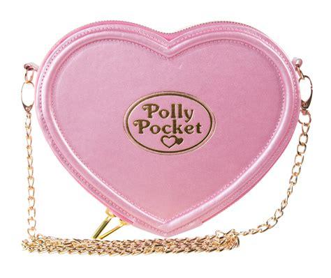 pink polly pocket shaped cross bag