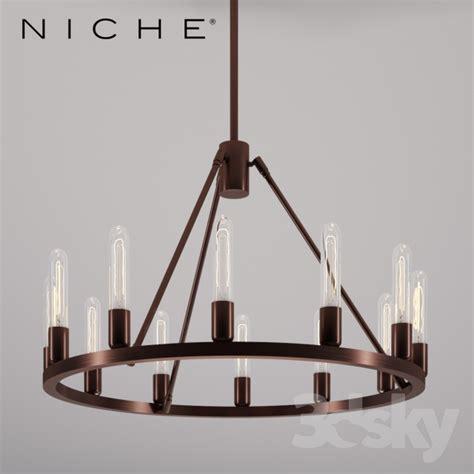 Niche Modern Chandelier 3d Models Ceiling Light Niche Spark 24 Modern Chandelier