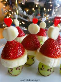 holiday snack diy grinch party poppers grinch kabobs
