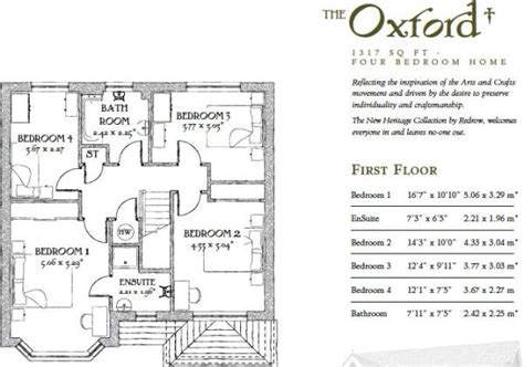 redrow oxford floor plan rightmove co uk
