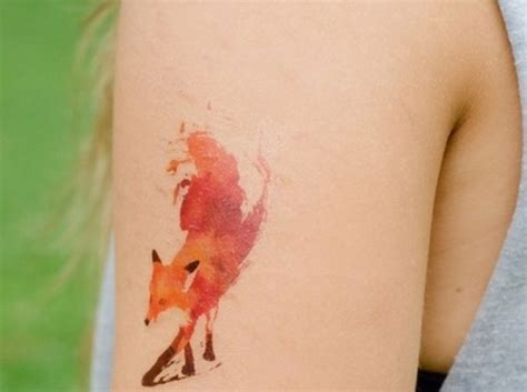 watercolor tattoos quotes watercolor fox maybe with a quote from the fox