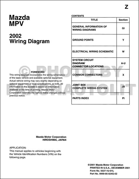 2002 mazda mpv wiring diagram free wiring