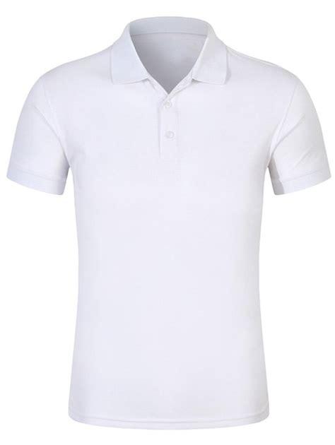 Plain Sleeve Polo Shirt sleeve plain polo shirt in white l sammydress