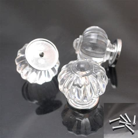 Clear Plastic Drawer Knobs 5 10set 30mm clear plastic sparkle cabinet drawer door