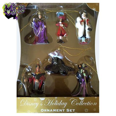 disney 4pc ornament set disney parks disney villains storybook 3d character hanging ornament