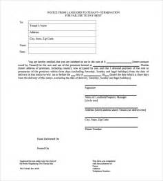 eviction letters templates sle eviction notice letter 8 free documents in pdf word