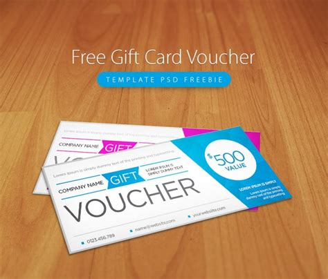 free gift card template photoshop free gift card voucher template psd freebie