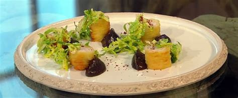 Berry Chicken Recipes Saturday Kitchen by Chicken Wrapped In Potato Spaghetti With