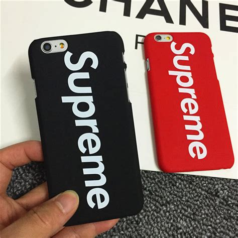 Casing Hardcase Hp Iphone 6 Plus Supreme X Black X4913 fashion supreme back cover for apple iphone 5 5s 6 6plus 6s phone black