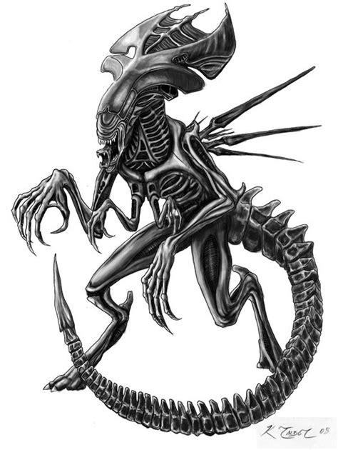 queen xenomorph tattoo latest grey ink alien tattoo design tatoo pinterest