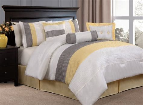 Sprei Bedcover Set Baby Yellow Line yellow comforter set gray yellow bedding quilt