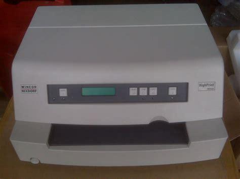 Printer Mesin Antrian printer passbook wincor nixdorf 4915 service printronix mesin antrian puskesmas epson plq 20