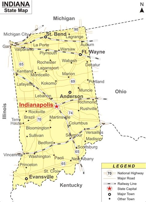 map of indiana cities and towns indiana cities and towns images