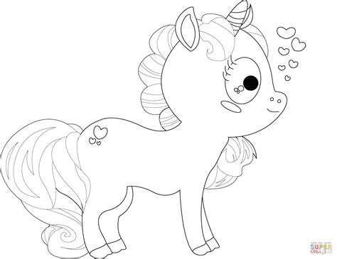 Cartoon Unicorn Coloring Pages Cute Many Interesting Cliparts