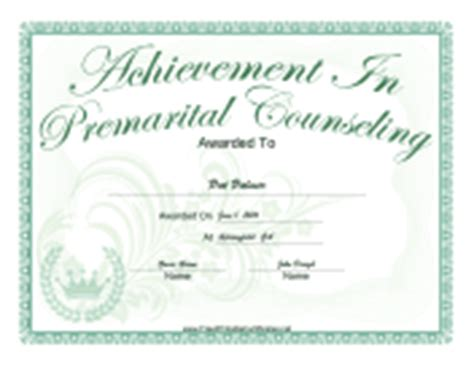 Certificates Of Completion Free Printable Certificates Free Premarital Counseling Certificate Of Completion Template