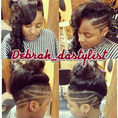 how to do mohawk sew in hairstyles sew in mohawk sides cut short hairstyles pinterest