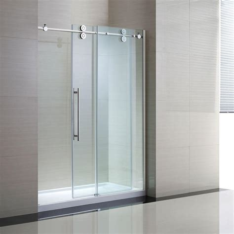 100 frameless sliding shower enclosure tub and