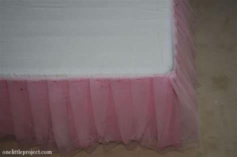 tulle bed skirt how to make a tulle bedskirt