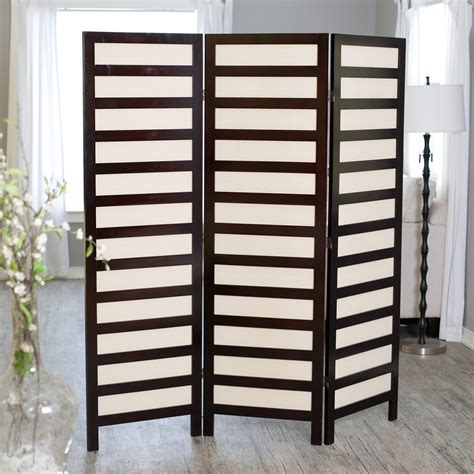 Wall Room Divider Kavari Canvas 3 Panel Room Divider Rosewood Room Dividers At Hayneedle
