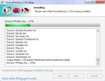 cara menggunakan format factory portable cara instal menggunakan format factory