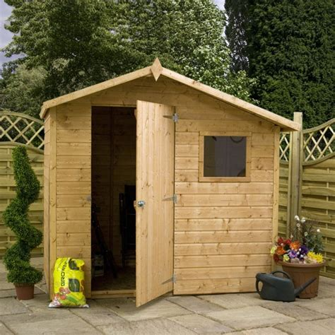 5x7 Shed by 5 X 7 Waltons Apex Tongue Groove Shed