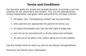 advertising terms and conditions template houseboat sponsor site sponsorship has many profitable