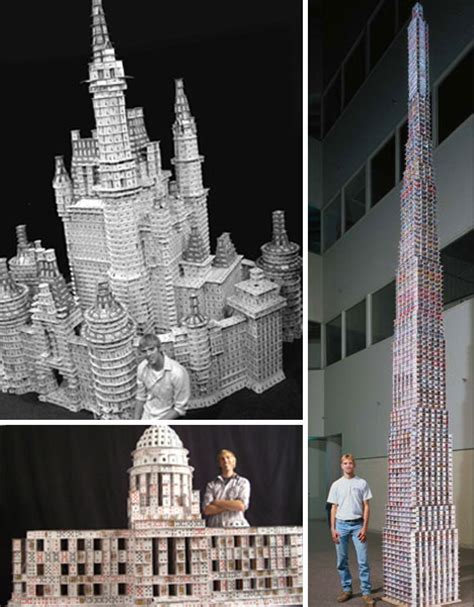 how to make card tower 12 precarious works of card sculpture urbanist