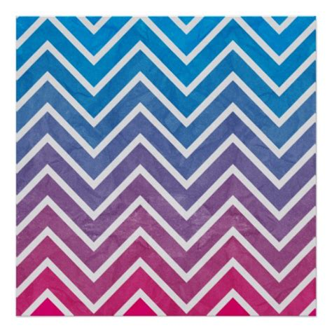 chevron pattern pink and blue pink blue chevron pattern poster zazzle