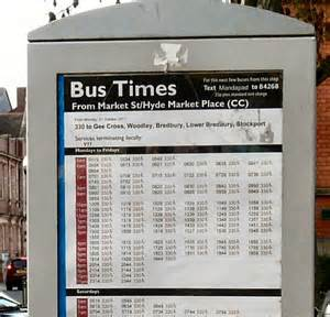 How To Read T Table Bus Times From Hyde Market 169 Gerald England Geograph