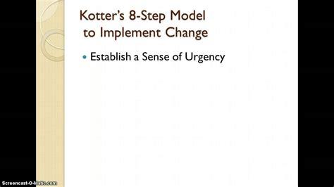 kotter change model youtube change leadership and kotter s 8 step model youtube