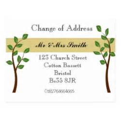 address cards templates change of address postcards change of address post cards