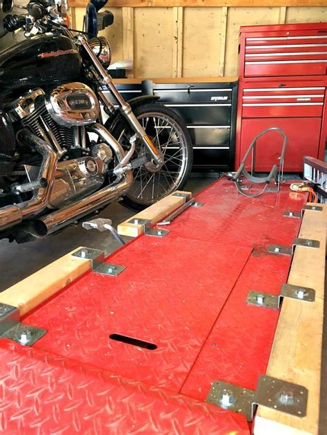 how to a motorcycle lift table how to diy motorcycle table lift side extensions