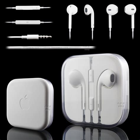 Headset Iphone 6 Plus Genuine Apple Iphone 6 6 Plus 5 5c 5s 4s Headphones Earphones Earpods Ebay