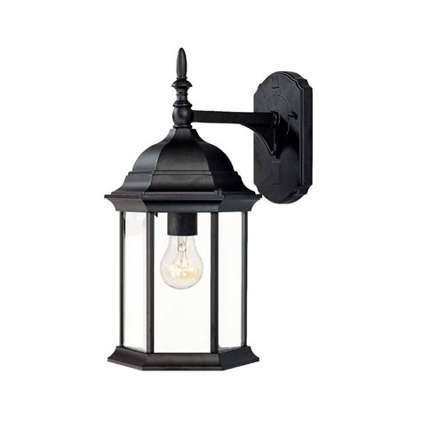 Acclaim Lighting Telfair Collection 1 Light Matte Black Outdoor Light Fixtures Wall Mounted