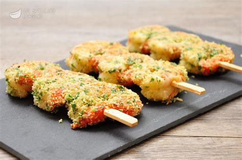 cucinare gamberoni al forno ricetta spiedini di gamberi al forno le ricette dello