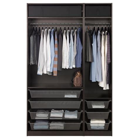 pax ikea tiefe pax wardrobe black brown 150x58x236 cm ikea