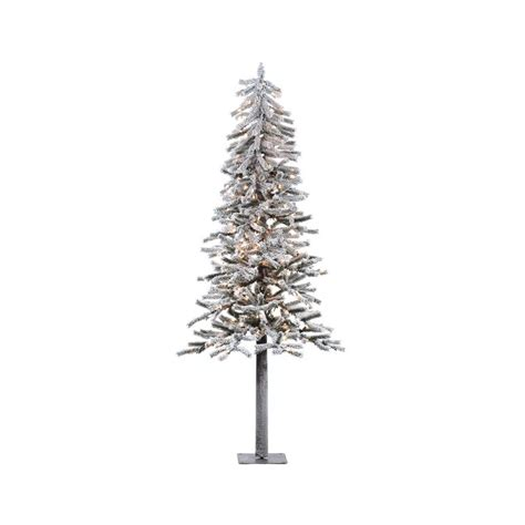 shop vickerman 7 ft pre lit alpine slim flocked artificial