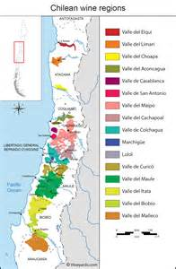 vineyards map chile map of vineyards wine regions