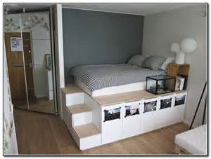 Platform Bed With Stairs Ikea Loft Bed With Stairs Plans Free Beds Home Furniture