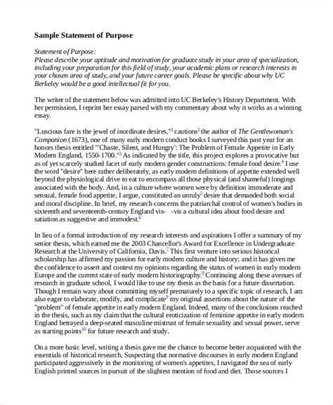 academic statement of purpose template best template idea