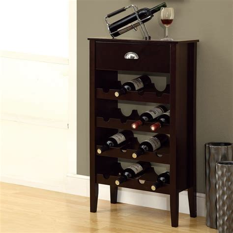 Free Standing Wine Glass Rack by Shop Monarch Specialties 16 Bottle Cappuccino Freestanding