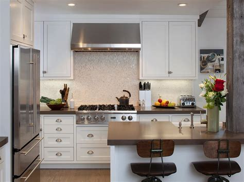 kitchen white backsplash stainless steel backsplash tiles pictures ideas from hgtv kitchen ideas design with