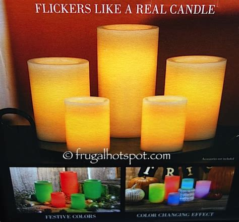 costo candele auto costco sale 5 color changing led wax candles 24 99